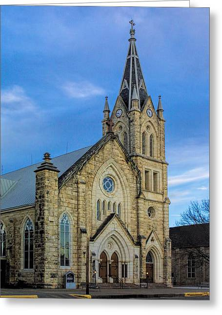 Stepping Stones Greeting Cards - Old Fredericksburg Church Greeting Card by Linda Phelps