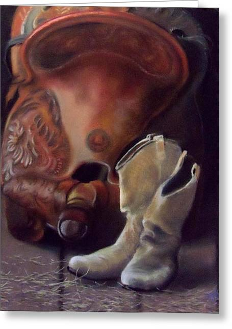 Boots Pastels Greeting Cards - Old Friends Greeting Card by Marcus Moller