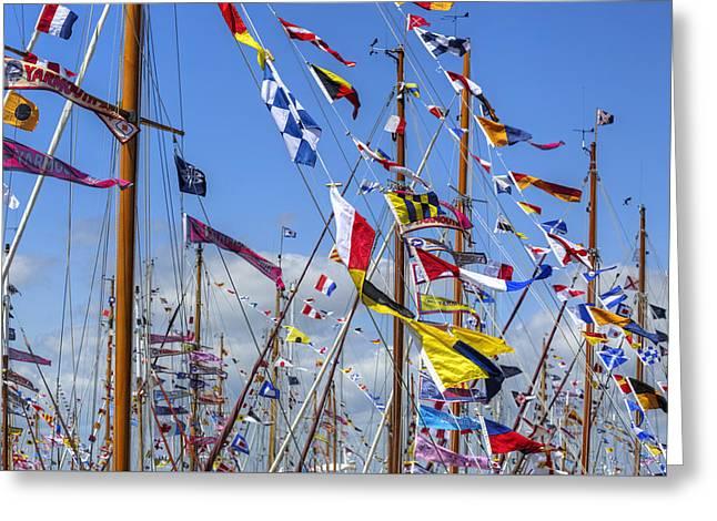 Old Gaffers Festival - Yarmouth Greeting Card by Joana Kruse