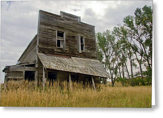 Old Wood Building Greeting Cards - Old General Store Greeting Card by James Steele