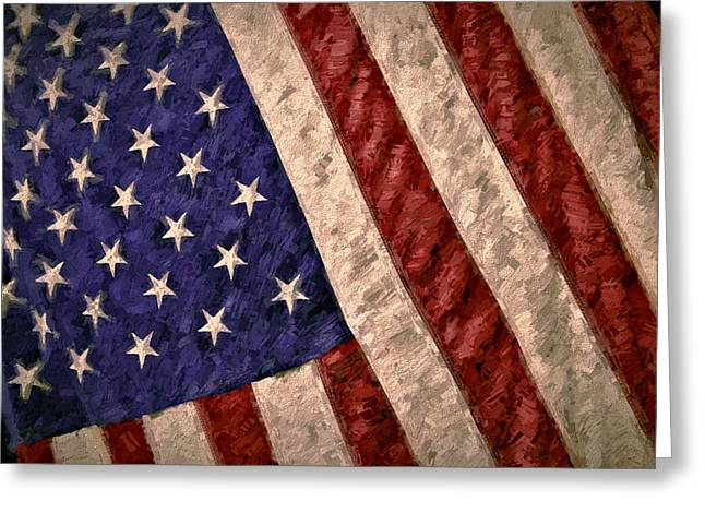 4th July Digital Art Greeting Cards - Old Glory Greeting Card by John K Woodruff