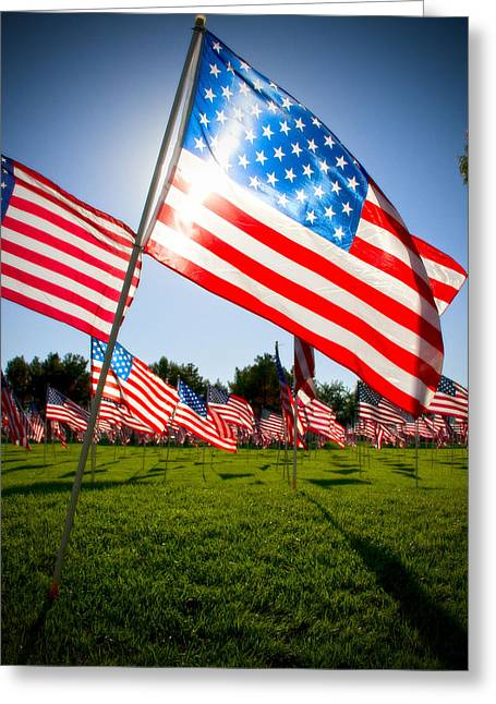 Mike Hill Greeting Cards - Old Glory Greeting Card by Mike Hill