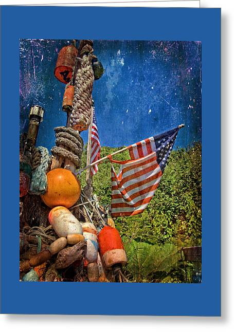 Oregon Coast Greeting Cards - Old Glory Greeting Card by Thom Zehrfeld