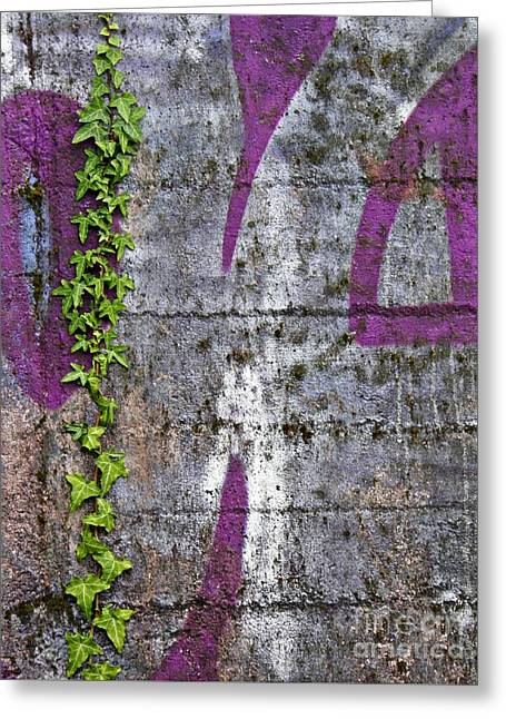 Sarah Loft Greeting Cards - Old Graffiti Greeting Card by Sarah Loft