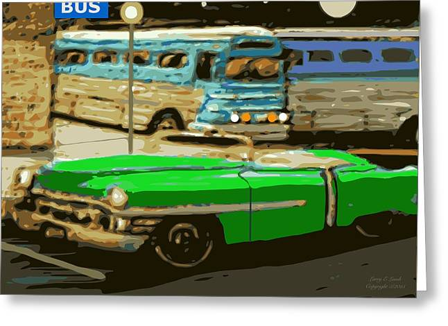 Greyhound Greeting Cards Greeting Cards - Old Grayhound Bus Station Greeting Card by Larry Lamb