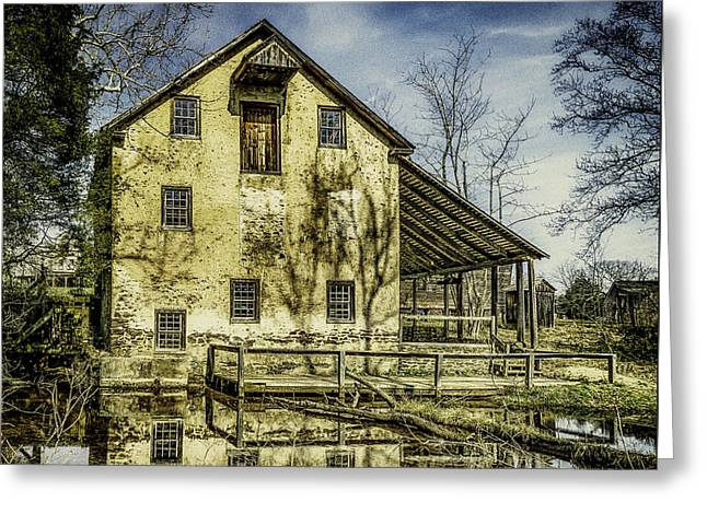 Old Grist Mill Greeting Card by Nick Zelinsky
