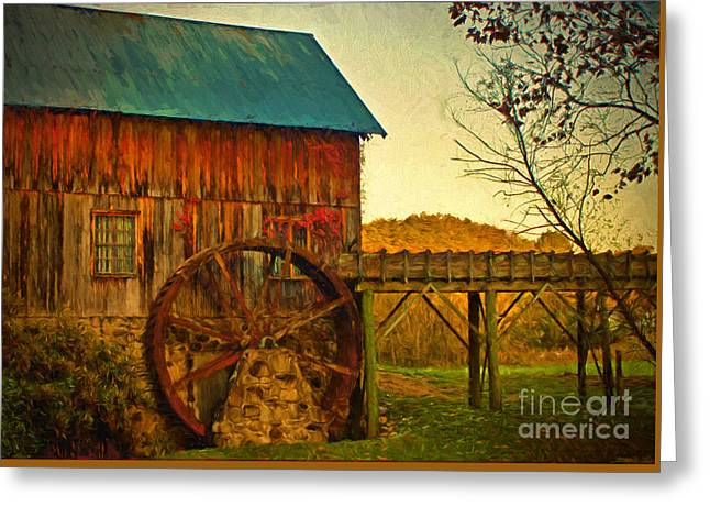 Grist Mill Greeting Cards - Old Gristmill  Greeting Card by Dave Bosse