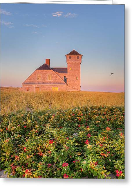 Old Harbor Life-saving Station Greeting Card by Bill Wakeley