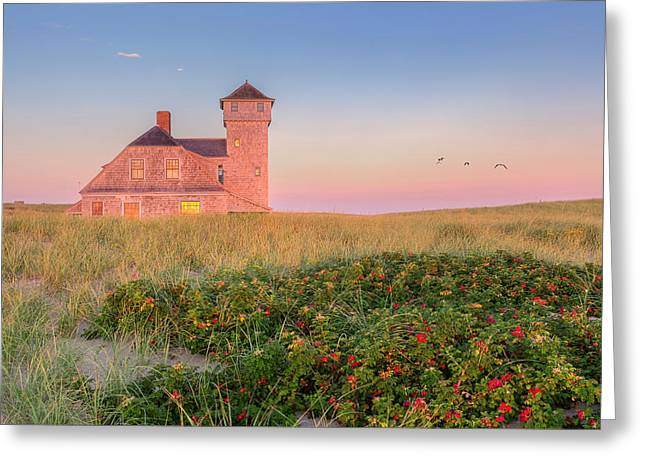Old Harbor Life-saving Station Cape Cod Greeting Card by Bill Wakeley