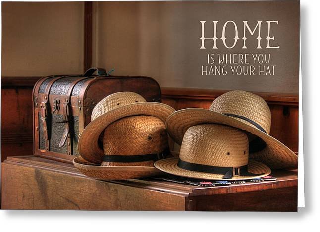 Old Hats Greeting Card by Lori Deiter