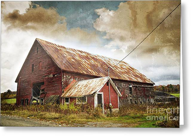 Old Maine Barns Greeting Cards - Old Hay Barn Greeting Card by Alana Ranney