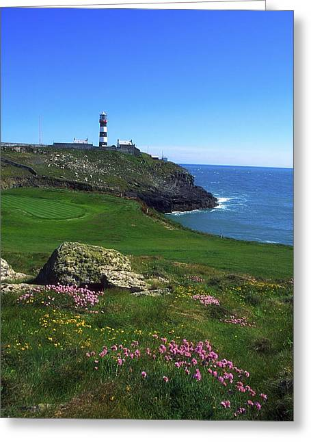 Golfcourse Greeting Cards - Old Head Of Kinsale Lighthouse Greeting Card by The Irish Image Collection