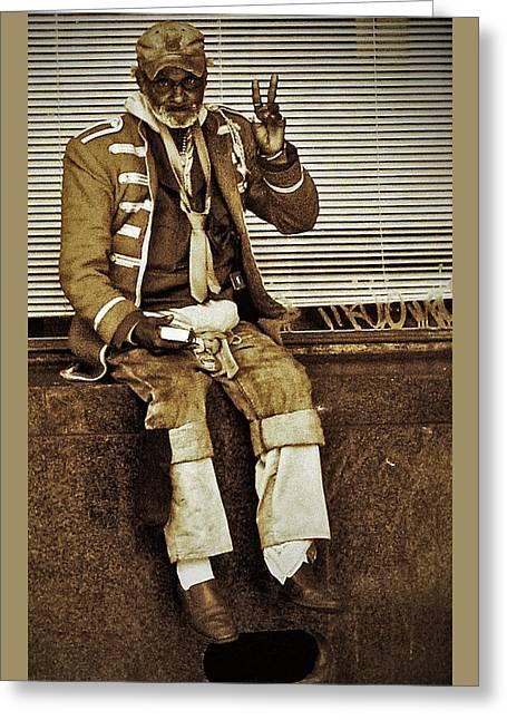 Old Hippie 2 Greeting Card by Lorenz Klug