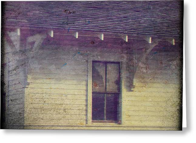 White Frame House Digital Greeting Cards - Old Home Greeting Card by Krista Carofano