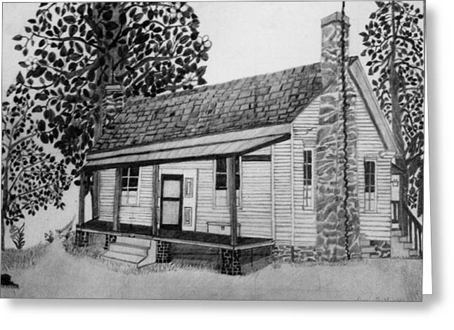 Old Home Place Drawings Greeting Cards - Old Home Place Greeting Card by Dale  Ballenger