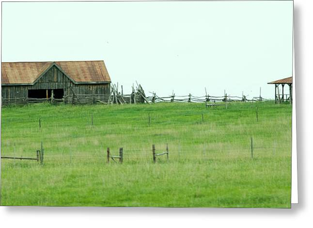Sheds Greeting Cards - Old Homestead Greeting Card by Linda Kerkau