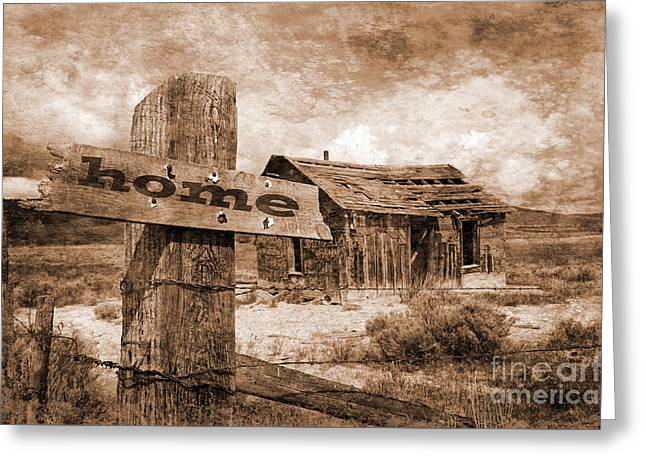 Log Cabins Greeting Cards - Old Homestead  Greeting Card by Tony Craddock