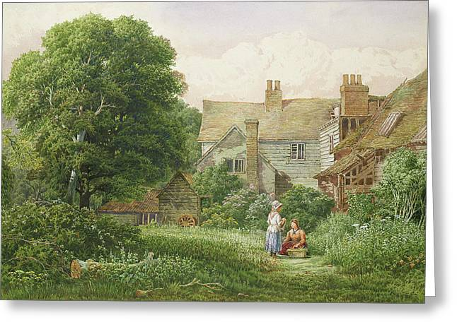Old House At Hendon  Greeting Card by Bernard Walter Evans