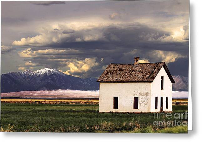 Catherine White Greeting Cards - Old House at the Great Sand Dunes Greeting Card by Catherine Sherman