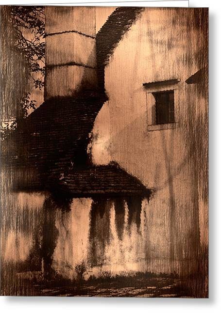 Stones Greeting Cards - Old house Greeting Card by Damijana Cermelj