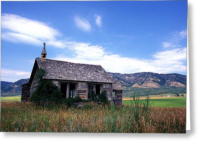 Featured Art Greeting Cards - Old House in Idaho Greeting Card by Kathy Yates