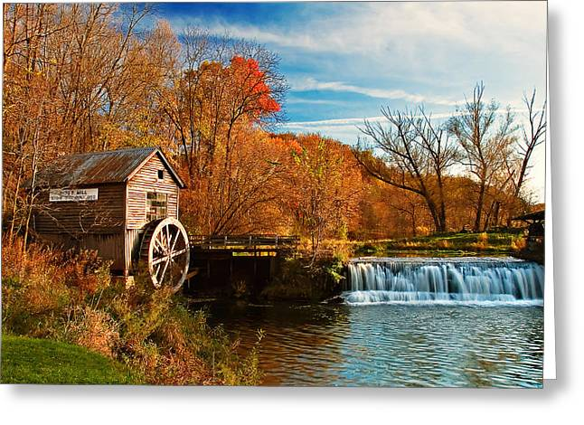 Old Hyde Mill Greeting Card by Todd Klassy