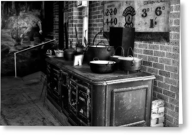 Old Stove Greeting Cards - Old Iron Stove - Oven by Kaye Menner Greeting Card by Kaye Menner