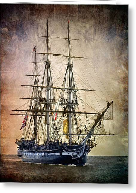 Uss Greeting Cards - Old Ironsides Greeting Card by Fred LeBlanc