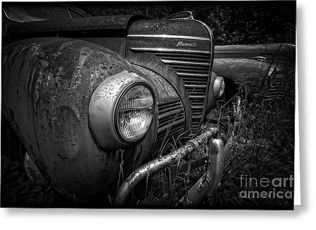 Rusted Cars Greeting Cards - Old Junkers Greeting Card by Edward Fielding