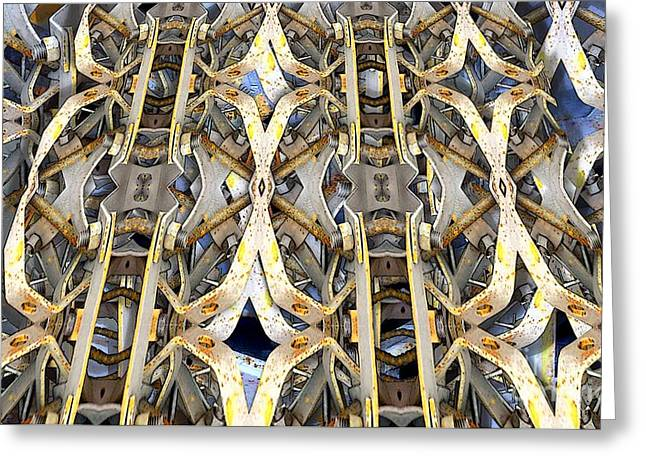 Distortion Greeting Cards - Old Kaleidoscope Redone 3 Greeting Card by Ron Bissett