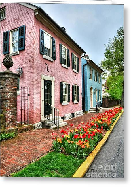Historic Home Greeting Cards - Old Kentucky Homes 3 Greeting Card by Mel Steinhauer