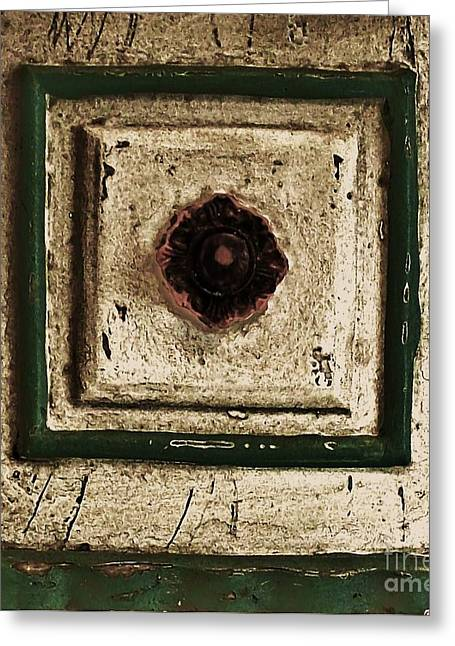 Old Knob Abstract Greeting Card by Marsha Heiken