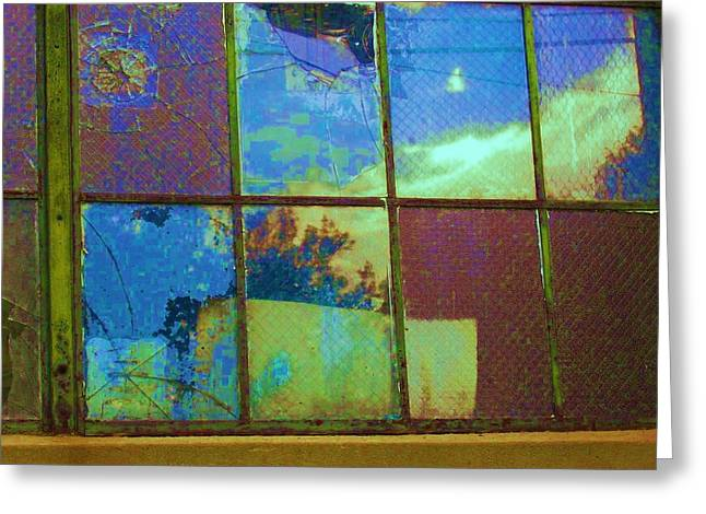 Old Lace Factory Window Greeting Card by Don Struke