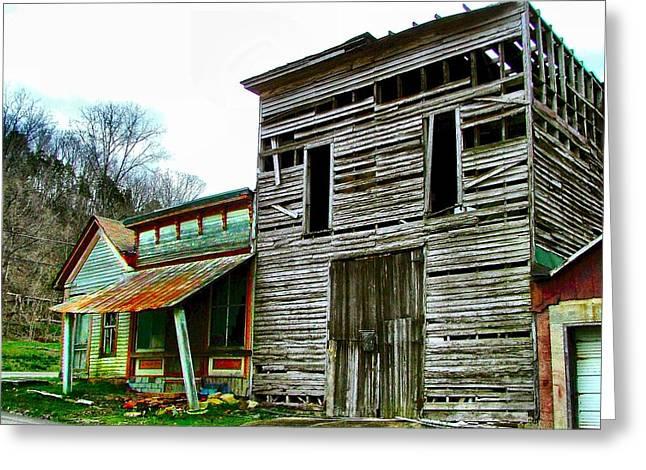 Julie Dant Greeting Cards - Old Leavenworth Indiana Ghost Town II Greeting Card by Julie Dant