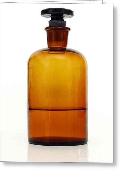 Pharmacon Greeting Cards - Old Little Bottle Greeting Card by Michal Boubin