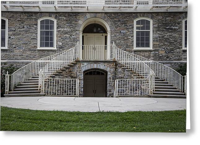 Old Main Penn State Stairs  Greeting Card by John McGraw