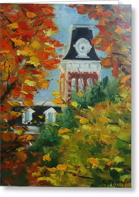 University Of Arkansas Greeting Cards - Old Main Greeting Card by Stacy Spangler