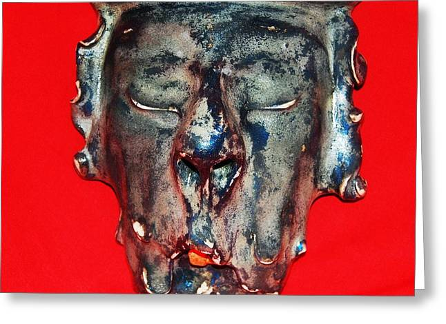 Italy Sculptures Greeting Cards - Old Man Greeting Card by Alexander Almark