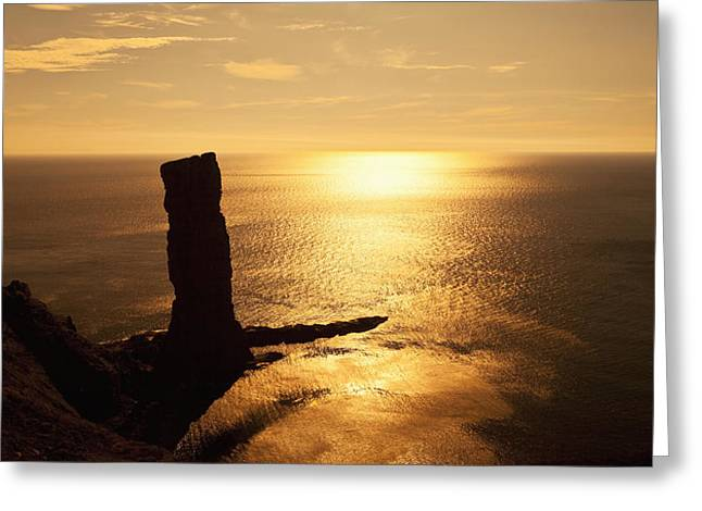 Recently Sold -  - Geology Photographs Greeting Cards - Old Man Of Hoy  Orkney, Scotland Greeting Card by Kav Dadfar