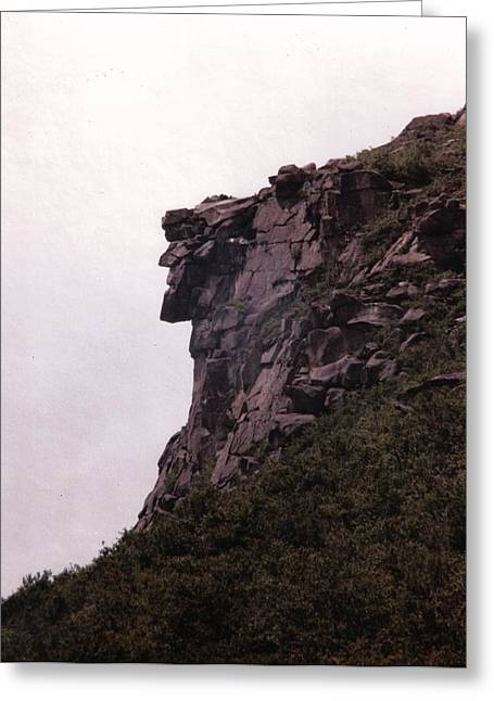 Old Man Greeting Cards - Old Man of the Mountain Greeting Card by Wayne Toutaint