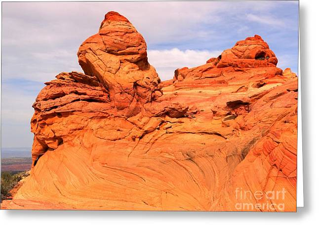 Old Man With Hat Greeting Cards - Old Man Winter At Coyote Buttes Greeting Card by Adam Jewell