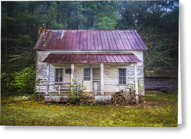 Tennessee Barn Greeting Cards - Old Memories Greeting Card by Debra and Dave Vanderlaan