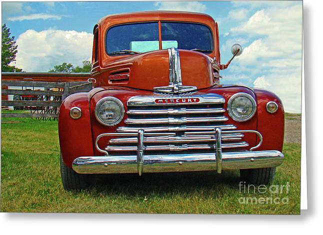 Souvenir Photo Studio Greeting Cards - Old Merc Greeting Card by Al Bourassa