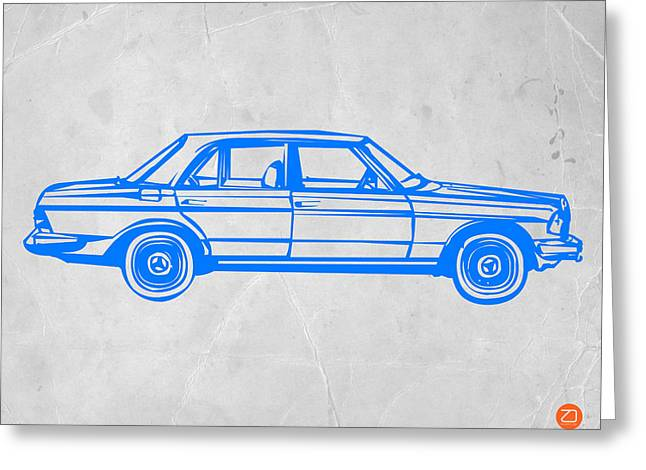Modernism Greeting Cards - Old Mercedes Benz Greeting Card by Naxart Studio