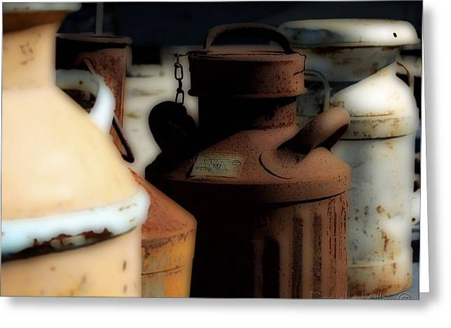 Old Milk Cans Greeting Card by Danielle Miller