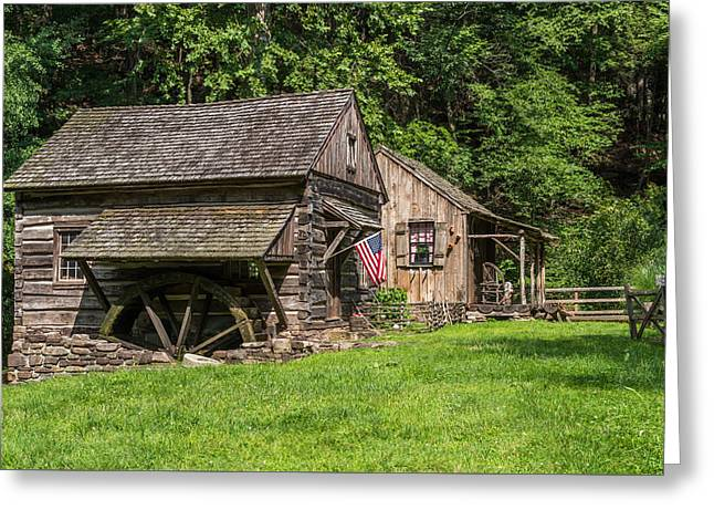 Old Mills Photographs Greeting Cards - Old Mill Cuttalossa Farm Pennsylvania Greeting Card by Terry DeLuco