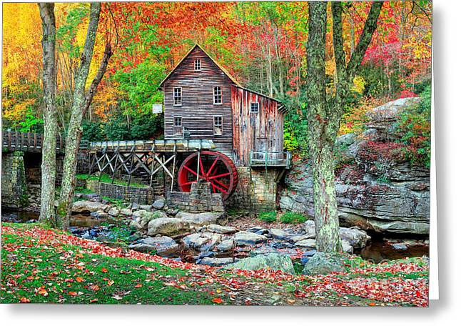 Old Mill Greeting Card by Emmanuel Panagiotakis