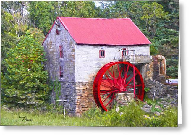 Old Mill Of Guilford Painted Greeting Card by Sandi OReilly