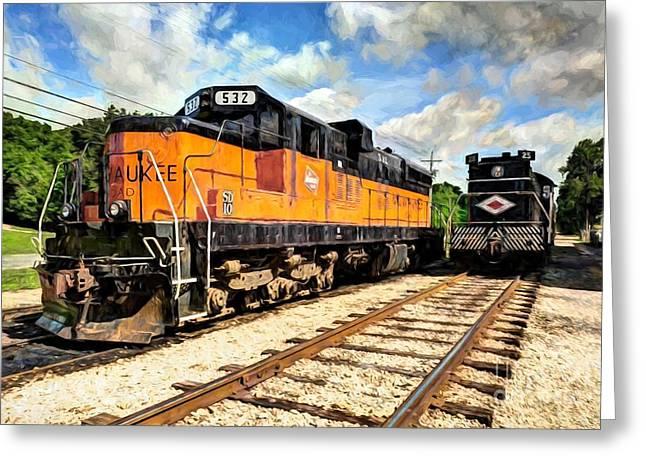 Old Milwaukee Engine # 532 Greeting Card by Mel Steinhauer