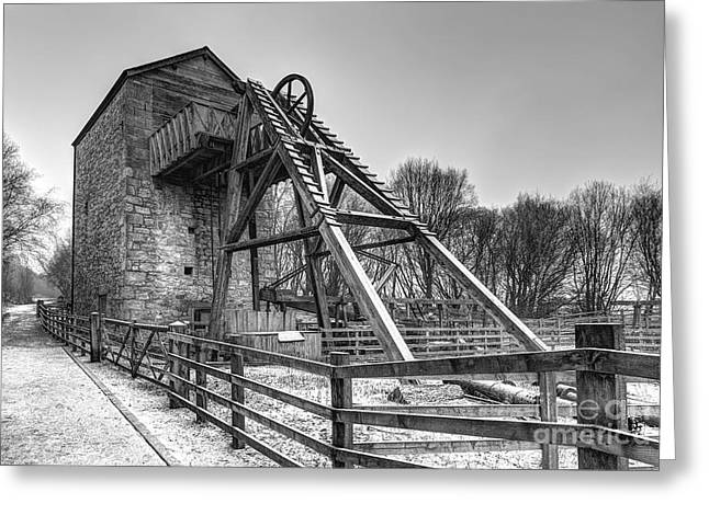 Wrexham Greeting Cards - Old Mine Greeting Card by Adrian Evans